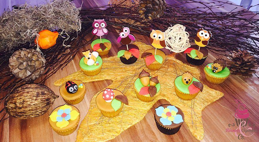 Auf diesen Cupcakes treffen die Bewohner des Waldes zusammen. • Fotos: Biancas Cupcakes & Co / Facebook.com