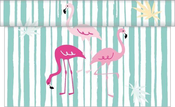 Tischläufer Flamingo, 40 cm x 4,80 m