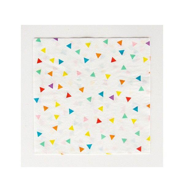 Servietten Dreiecke bunt, 33cm, 20 Stück