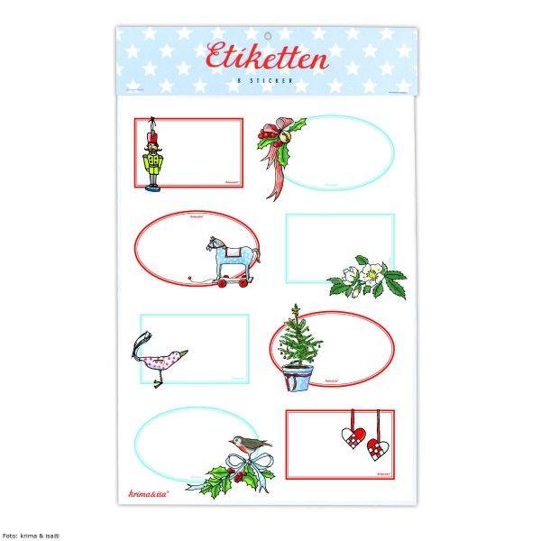 Sticker Etiketten Weihnachten, 8 St