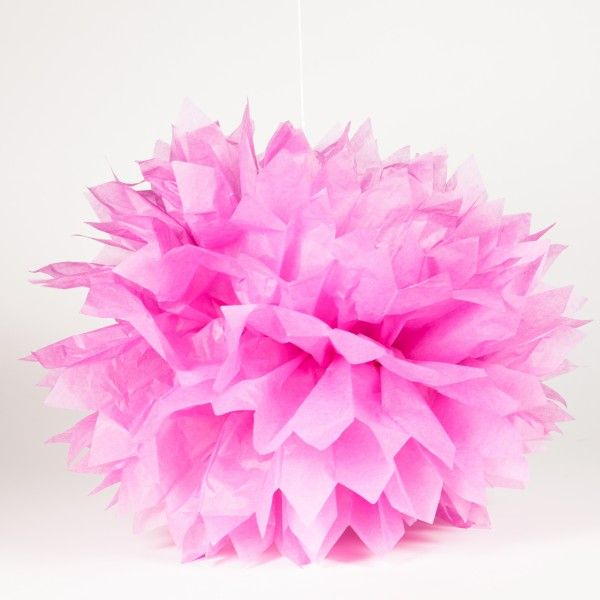Pompons, rosa, 41cm, 3-teilig
