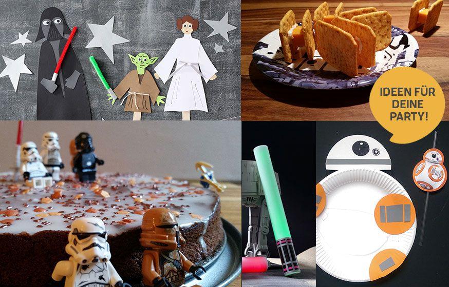 Bastelideen, Spieletipps und Rezepte für die Star Wars Party.
