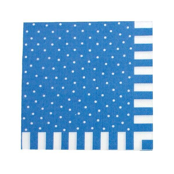 Servietten mit Punkten, blau, 20 Stück