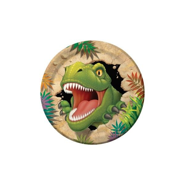 Pappteller Dino, ø 22 cm, 8 Stück