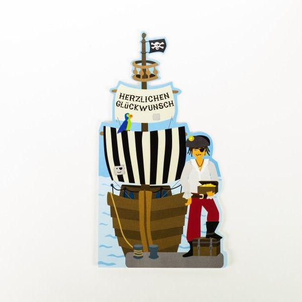 Glueckwunschkarte Pirat