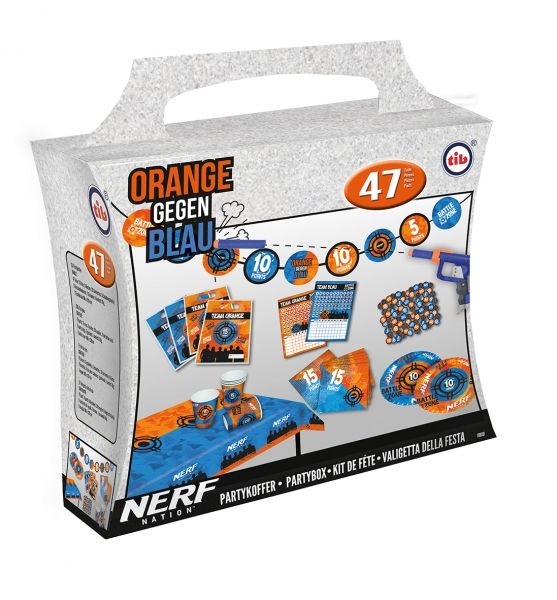 Partykoffer NERF, 47 Teile