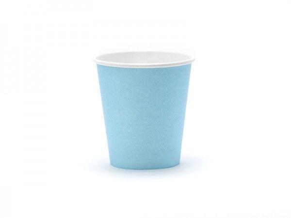 Pappbecher, Himmelblau, 6 Stück, 160 ml