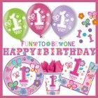 1. Geburtstag Mädchen –Party-Set