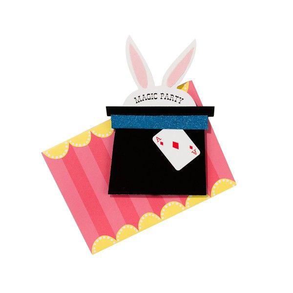 Einladungskarten mit Umschlag Magier, 12 Stück