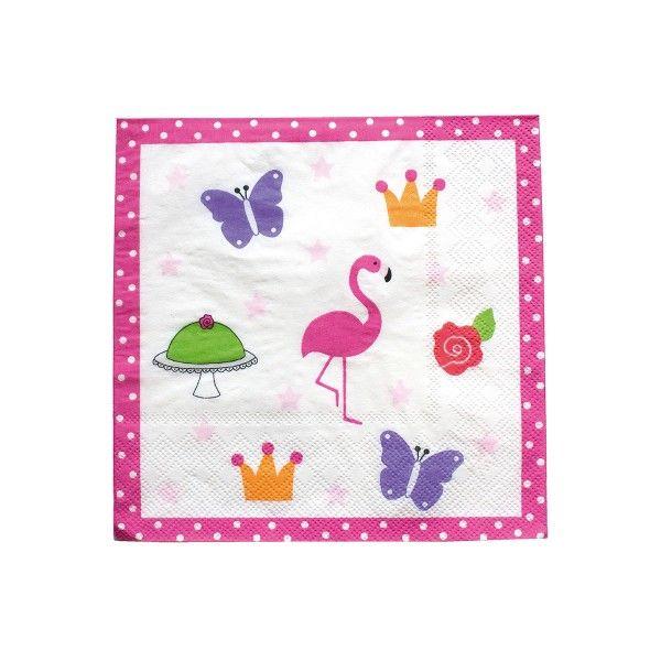 Servietten Motiv Flamingo, 20 St
