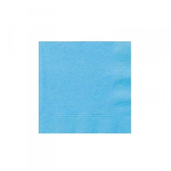 Servietten Hellblau, 20 Stück
