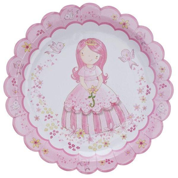 Pappteller Prinzessin,