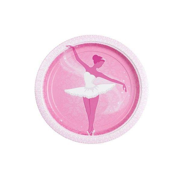 Pappteller Ballerina, ø 18 cm, 8 Stück X