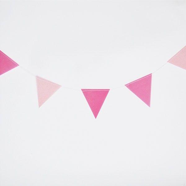Wimpelkette-pink-3m-neu