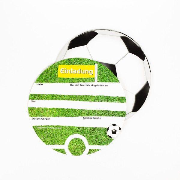 Einladungskarten Fußball, 6 Stück