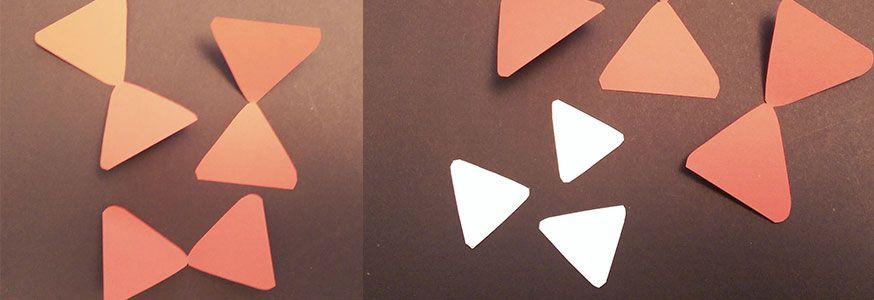 Zunächst werden die Formen für die Baustellenpicker zurecht geschnitten.