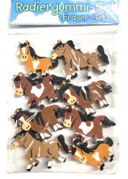 Pferde Radierer Set, 8 Stück