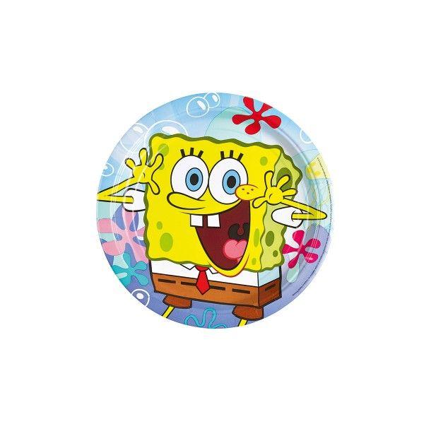 Pappteller, SpongeBob, ø 23 cm, 8 Stück