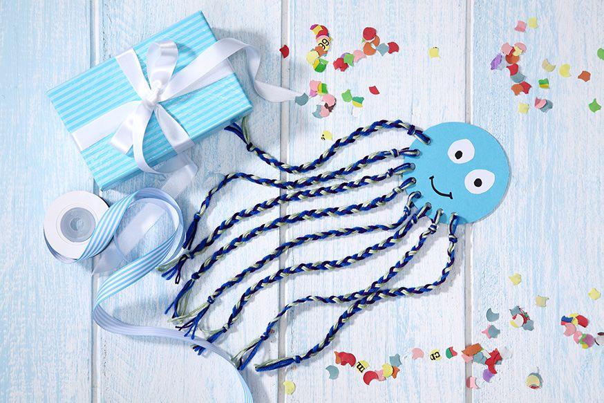 Süße Bastelidee für den Unterwasserweltgeburtstag. • Umsetzung und Foto: Thordis Rüggeberg