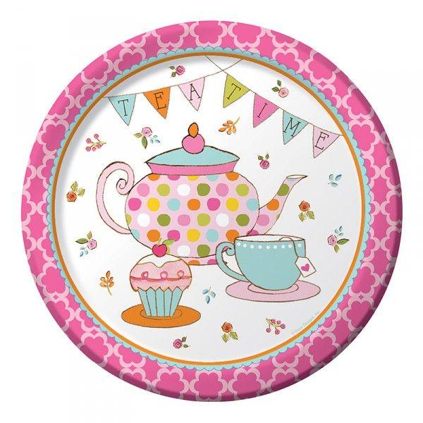 Pappteller Tee Party, ø23cm, 8 Stück