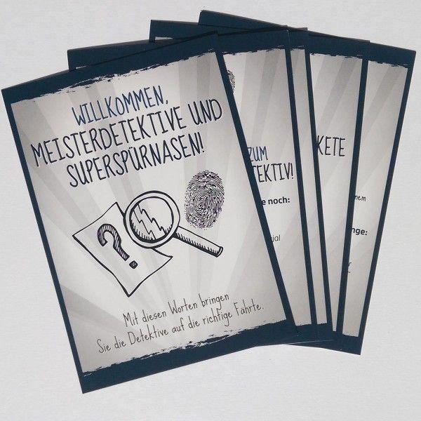 Mottokarten Detektiv, 5 Stück