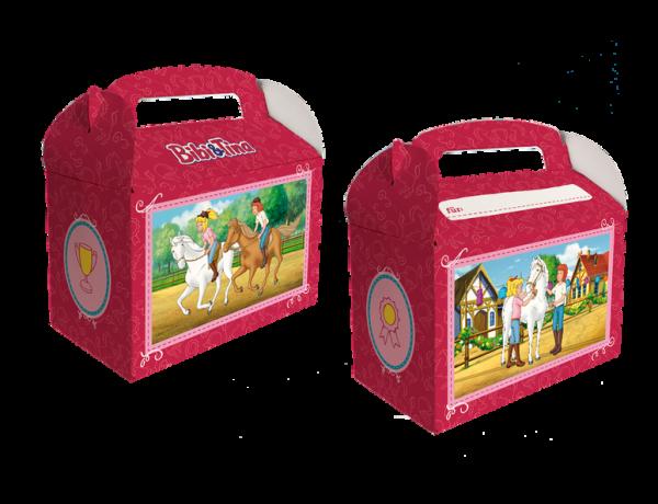 Geschenkboxen Bibi & Tina, 15x8x9,5cm, 6 Stück