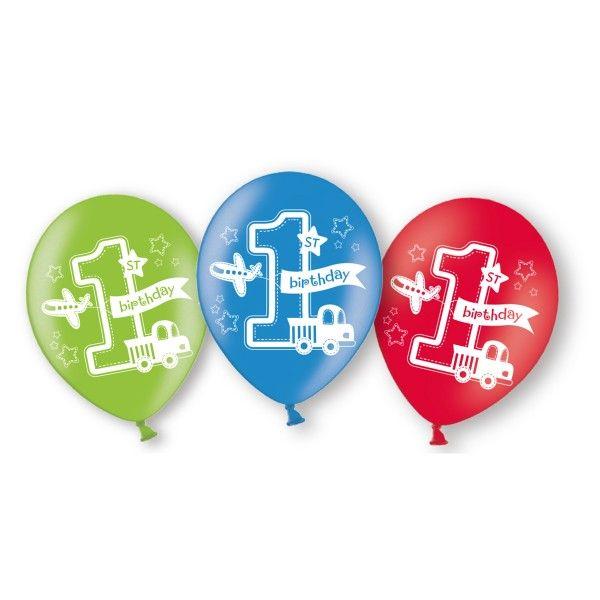 Luftballons 1. Geburtstag, 6 St