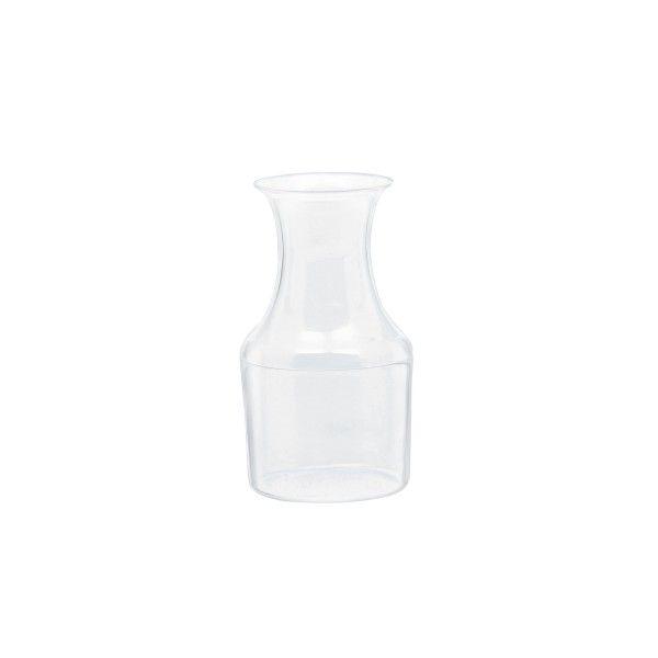 T1142295-Mini-Plastikkaraffe-geschwungen-transparent-221ml-6-Stueck