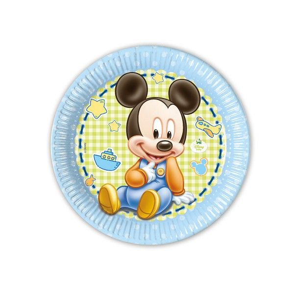 T1142340-Pappteller-Baby-Mickey-23cm-8-Stueck