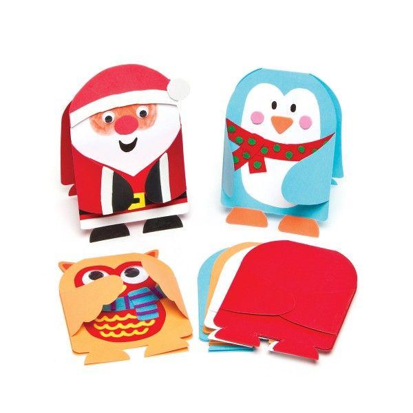 Weihnachtskarten mit Umschlägen zum selbstgestalten, 8 Stück