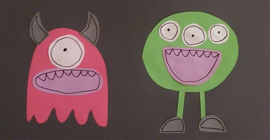 Bastelidee für die Monsterparty.