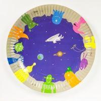 Pappteller Weltraum