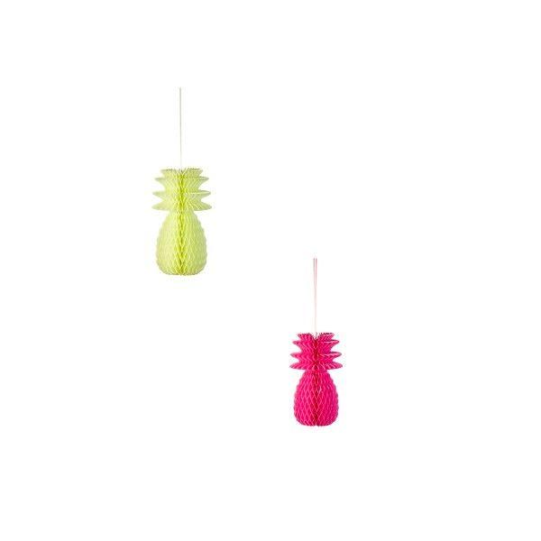 T1141152-Deko-Ananas-Set-mit-drei-Stueck-pink-gelb-Orange