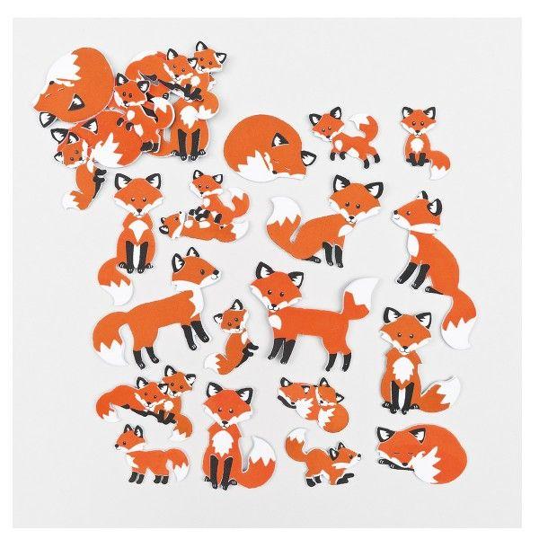 Moosgummi-Aufkleber Fuchs, 120 Stück X X