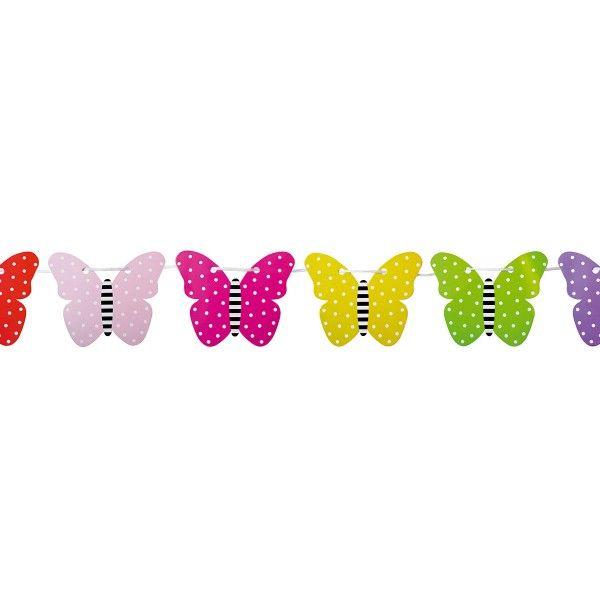 Wimpelkette Schmetterling, 4,5m