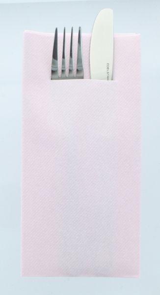 Besteckservietten Hellrosa , 40cm, 12 Stück