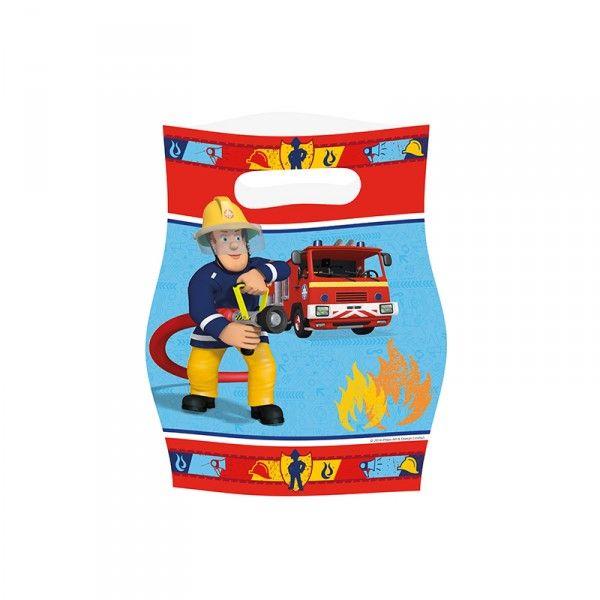 Partytüten Feuerwehrmann Sam, 8 Stück X X