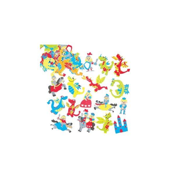 T1142561-Moosgummi-Aufkleber-Drachen-120-Stueck