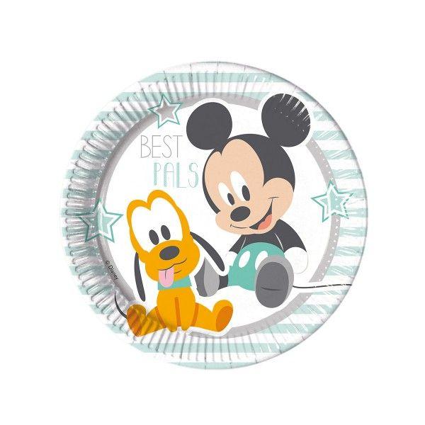Pappteller Disney Baby, ø 23cm, 8 Stück