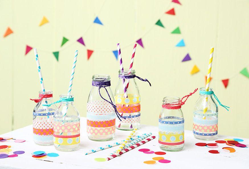 Die Glasflaschen sind der Hingucker auf jedem Buffet. • Umsetzung und Foto: Thordis Rüggeberg