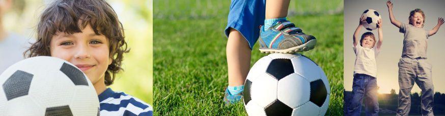 Auf diese Geburtstagsfeier freuen sich alle kleinen Fußballfans! • Fotos: WavebreakmediaMicro, Daddy Cool, Chepko Danil/ Fotolia.com