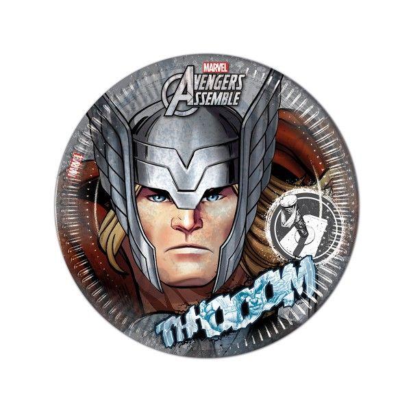 Pappteller Avengers Teen, Thor, ø 23cm, 8 Stück