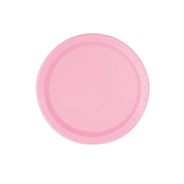 Pappteller rosa, 23cm, 8 Stück