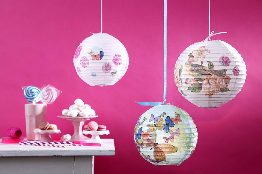 Zauberhafte Lampions für die Prinzessinnen-Feier. • Umsetzung und Foto: Thordis Rüggeberg