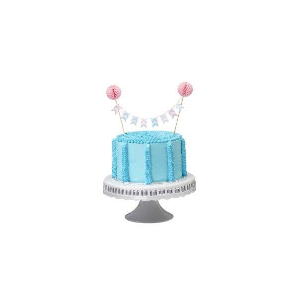 Kuchenaufsatz-mit-rosa-Pom-Poms--Chevron-Divine