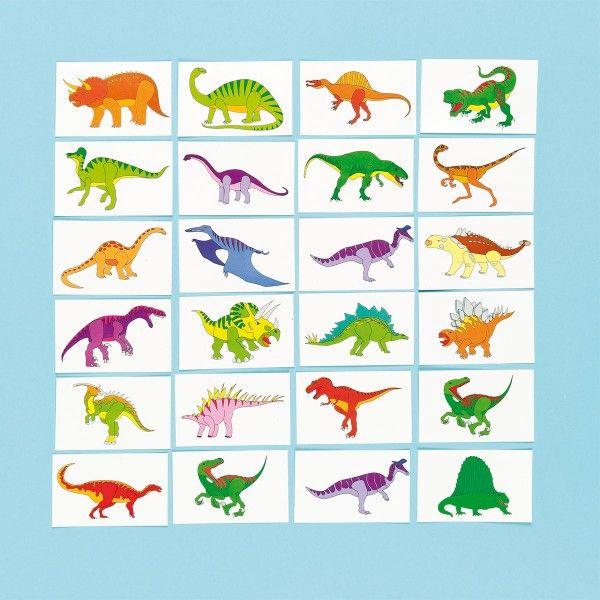 Tattoos Dinosaurier, 24 Stück