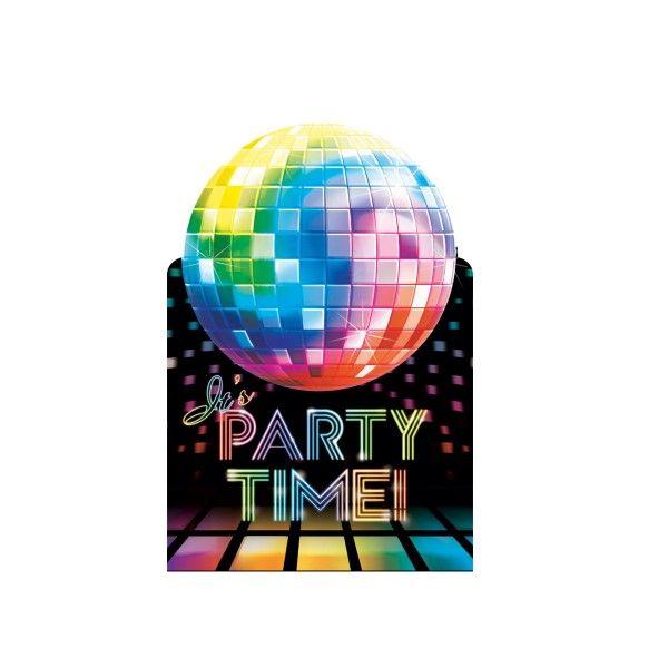 Einladungskarten  Disco, 8 Stück