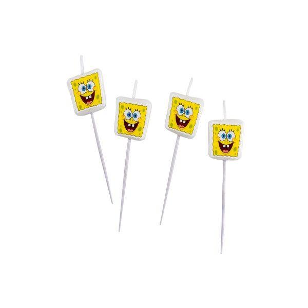 SpongeBob Mini-Kerzen, 4-teilig f
