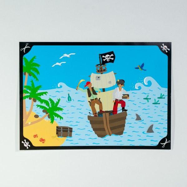 Tischsets Pirat, 6 Stück