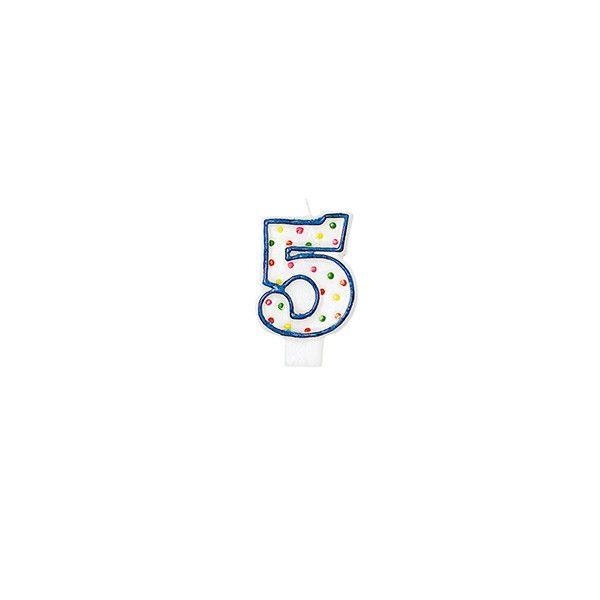 Zahlenkerze 5
